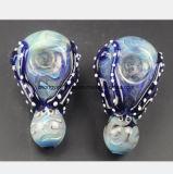Tubulação de água de vidro do calamar azul para a tubulação de fumo da recuperação do filtro
