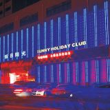 선형 관 (L-225-S48-RGB)를 점화하는 LED 매체 정면