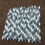 Mattonelle bianche della parete del mosaico del marmo delle mattonelle di mosaico del mattone di Thassos