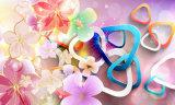 3D Blue-Rose sur la peinture à l'huile de Crystal Palace Interior Design