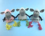 プラシ天の牧羊犬のおもちゃロープのおもちゃペットおもちゃ