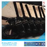 까만 색깔 무쇠 바디 웨이퍼 유형 PN 16 PN10 나비 벨브 DIN 표준 BCT-DKD71X-14