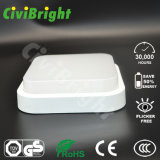 IP64 8W Square Smooth curvado a prueba de humedad Ceilinglight LED con GS