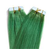 PUの皮の人間の毛髪の拡張20PCS/Set Remy膚触りがよくまっすぐなPUテープ毛の拡張のWeft毛の拡張12-30inchインドテープ