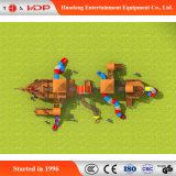 OEM/ODM順序の屋外の運動場のスライドの練習の木装置(HD-MZ056)