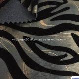 Rayas de la cebra que se reúnen el cuero de la PU para los zapatos de las señoras