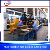 Cortadora rectangular de acero automática del plasma del CNC del tubo del perfil del tubo