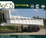 18 Cbm de Hydraulische Aanhangwagen van de Kipper van 2 Assen