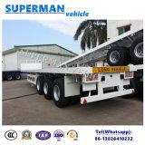 3 Hete Verkoop van de Aanhangwagen van de Vrachtwagen van het Vervoer van de Lading van de as Flatbed