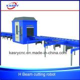 Robot de découpage de plasma de commande numérique par ordinateur/ligne satisfaisants machine de faisceau