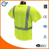 Feuchtigkeit Wicking Sicherheits-reflektierendes T-Shirt der Kategorien-2 Maximale-Dri