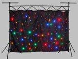 Ledj 별 커튼 RGBW 혼합 풀 컬러 4*6m RGB 별 배경막을%s 가진 반짝반짝 빛나는 매트릭스 LED 피복