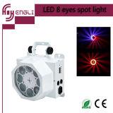 Luz del punto de los ojos del LED 8 para la iluminación del disco o de la barra o de la etapa
