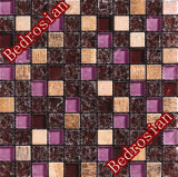Mosaic Ice-Cracked & Stone Mixed Wine Red (MGICGS11)