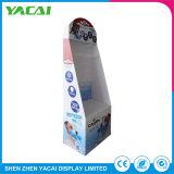Contador de exposições de piso de papel reciclado suporte de ecrã para o varejo