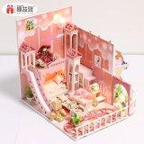 Best Birthday Dom 3D Puzzle Casa de Bonecas de madeira brinquedo miniatura