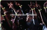 Incandescenza fluorescente nei braccialetti scuri del silicone per il partito