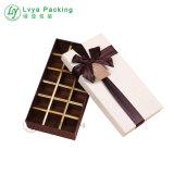 Chocolates Macaron Embalaje taracea con tapa dos Caja de papel