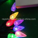 C6 Batería LED luces de cadena de luces de Navidad con fresa Shell