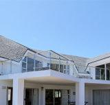 錬鉄の金属の屋外の緩和されたガラスの柵