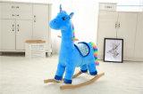 Rocking Unicorn en peluche avec des ailes d'animaux à bascule Rock jouet en peluche
