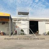 La construcción de la plataforma portátil de la torre de andamios de aluminio andamios móviles