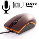 Souris USB Mini PC populaires Bug carte SIM GSM Moniteur Audio Listening Device Call Back