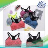 Deportes transpirable Sujetador Push up mujeres Yoga fitness gimnasio Top Bra trotar