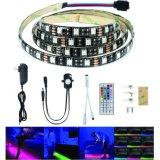 12V koelen de Lichte het Achtervolgen van de 5m LEIDENE Band van de Strook Gevolgen met IC van de Controle AutoLooppas Wit