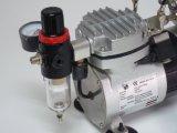 As19 de MiniCompressor van de Lucht van de Hobby - Tweeling (Olievrije) Zuiger