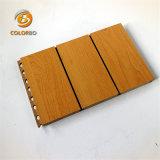 Dekoratives schalldichtes Grooved hölzernes Faser-akustisches Panel-hölzernes Bauholz-Akustik-Panel