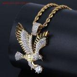 Men's fabrique de bijoux en gros Direct or 18K le Hip Hop Bling Bling Collier pendentif Eagle