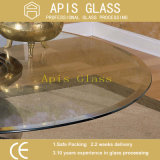 O ANSI Z297 matizou o círculo/borda chanfrada chanfrada redonda encaderna individualmente o vidro Tempered empacotado