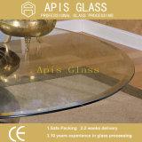 ANSI Z297が付いているゆとりまたは染められるか、または低い鉄の円によって斜角を付けられる端卓上によって強くされるガラス