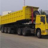 Lufeng 3 Axles встает на сторону тележка трактора Tipper с трейлером сброса для сбывания