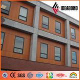 Painel de alumínio do revestimento de madeira à prova de intempéries excelente de PVDF (AE-306)