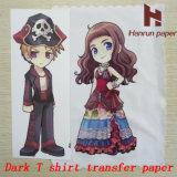 Papel de algodão escuro da transferência térmica da camisa do Inkjet T para a tela 100% de algodão