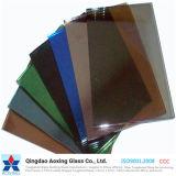 Brilho de bronze, cinza, azul, verde e rosa / vidro reflexivo temperado