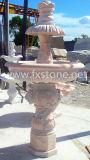 Einfacher Art-Garten-Marmor-Wasser-Brunnen