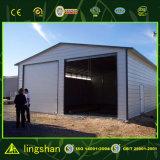 Almacén prefabricado de la casa del grano del arroz del bajo costo