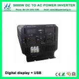 DC24V AC110/120V 5000W fora do inversor da grade com indicação digital (QW-M5000)