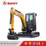Máquina escavadora hidráulica brandnew da esteira rolante de Sany Sy35 mini