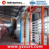 Linha de produção horizontal do revestimento do pó para o perfil de alumínio