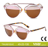 Neue Form-Frauen-Sonnenbrille-Metallsonnenbrillen mit Qualität (103-B)