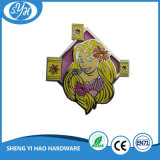 도매 빛나는 은 단단한 사기질 만화 접어젖힌 옷깃 Pin