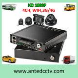De Systemen van 4/8 Toezicht van het Voertuig van het Kanaal 1080P met de Camera en Auto Mobiele DVR, GPS het Volgen van de Veiligheid
