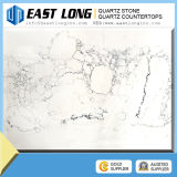 Calacatta populares Laje de Pedra de quartzo Artificial Tec Pedra de quartzo branca