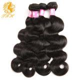 インドのバージンの毛ボディ波3束の未加工インドの毛の拡張7A加工されていないバージンの毛のインドの人間の毛髪の織り方の束