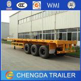 2017 de la carga del contenedor de envío de 40 pies de cama plana semi remolque