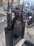 Pietra tombale nera del granito per gli stili dell'Europa